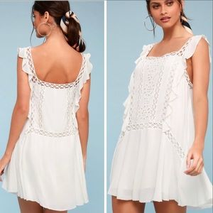 Free People Crochet Mini Dress